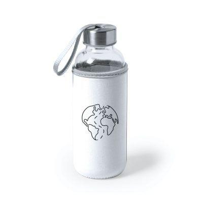 Botella de cristal Blanca